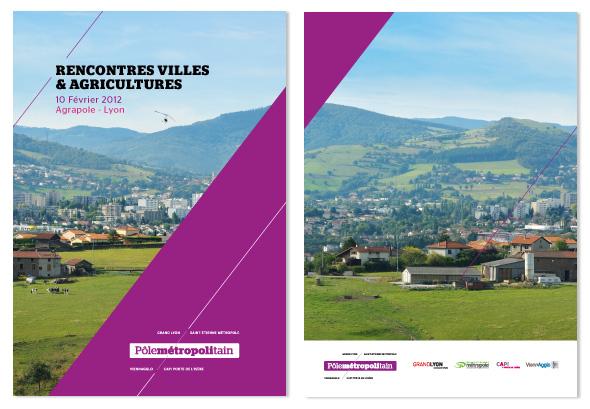 """Couverture et Dos - """"Rencontres villes & Agricultures"""" - Pôle Métropolitain"""