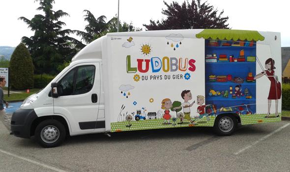 Habillage du Ludobus - Maquette