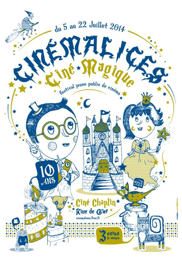 Affiche du festival Cinémalices 2014