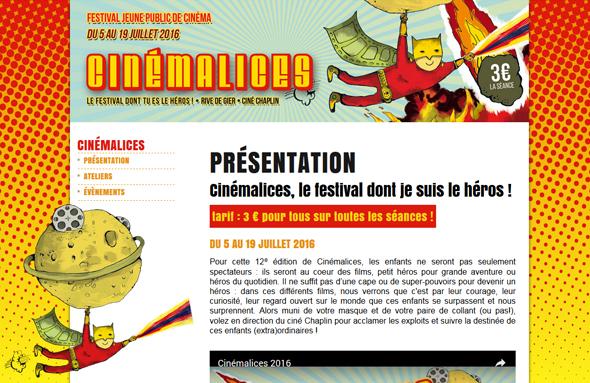 Site internet cinémalices 2016