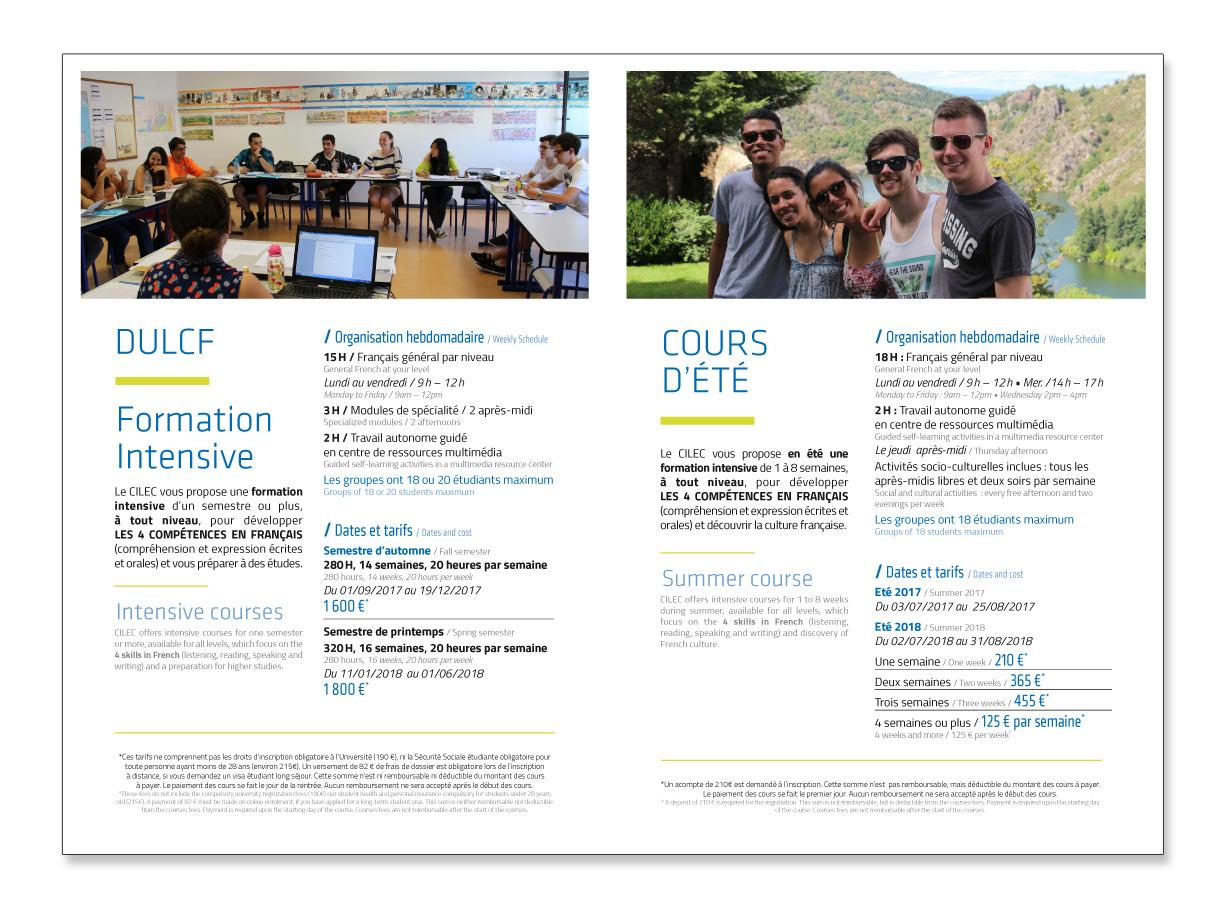 Pages intérieures / Plaquette CILEC / commande graphique
