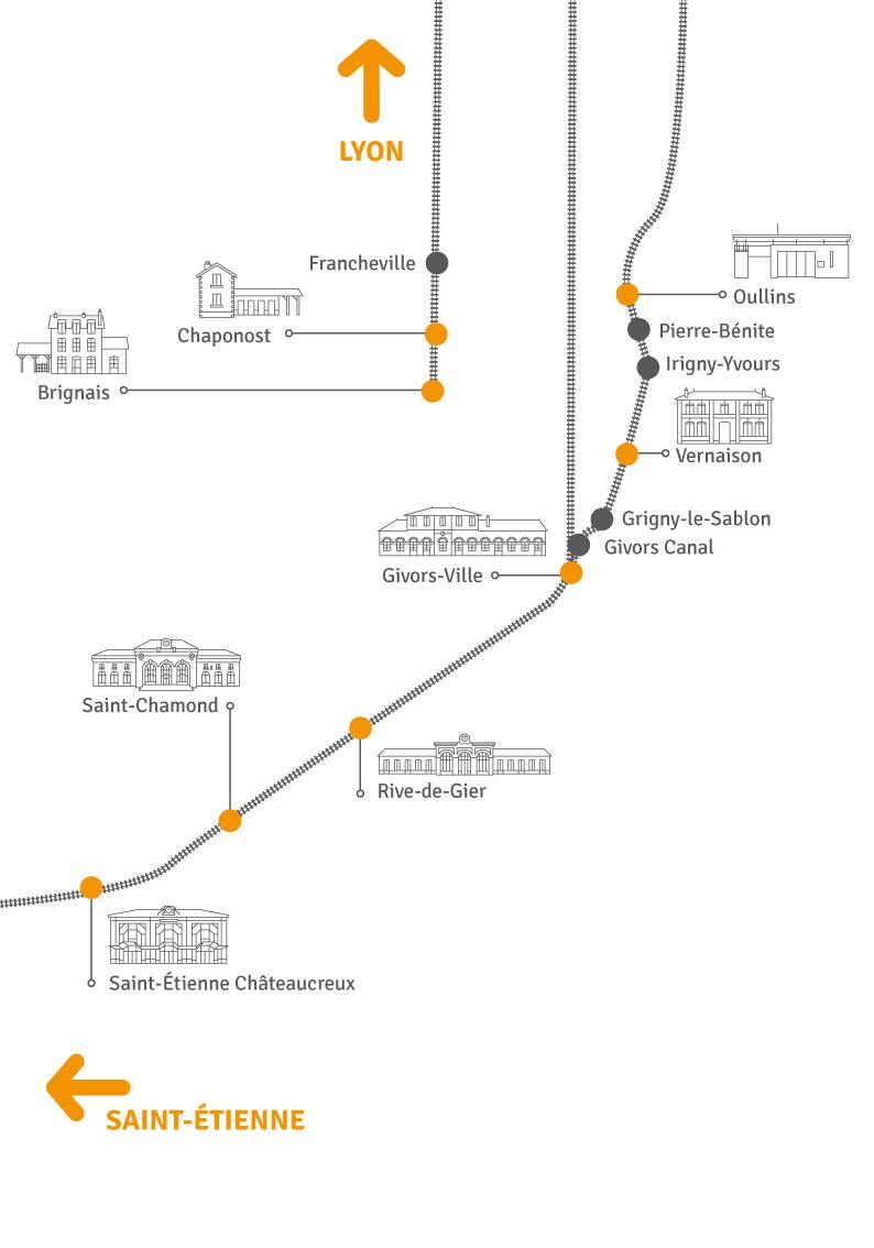 Schéma lignes ferroviaires gares - SMT AML - info-graphiste Réactive - niaksniaks