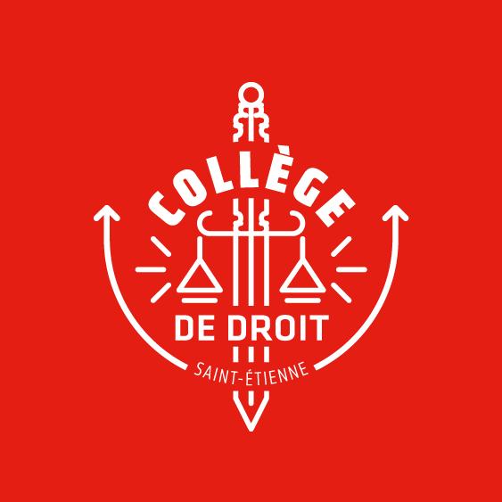logotype - emblème du collège de droit de l'UJM de saint-étienne